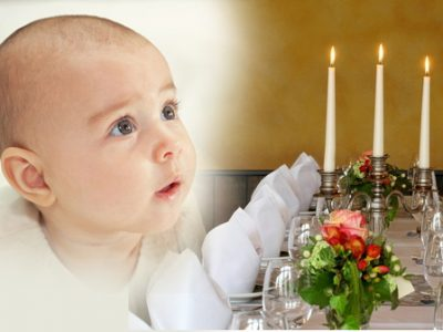 christening communion dinner room